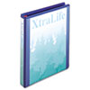 XtraLife ClearVue Non-Stick Locking D-Ring Binder, 1&quot;, 8-1/2 x 11, Blue