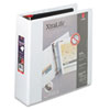 "Cardinal XtraLife ClearVue Non-Stick Locking Slant-D Binder, 3"" Cap, 11 x 8 1/2, White"