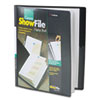 Cardinal ShowFile Display Book w/Custom Cover Pocket, 12 Letter-Size Sleeves, Black