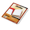 Cardinal Traditional OneStep Index System, 12-Tab, Months, Letter, White, 12/Set