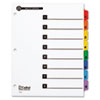 Cardinal 100% Recycled OneStep Index System, Multicolor 8-Tab, 11 x 8-1/2, 1 Set
