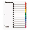 Cardinal 100% Recycled OneStep Index System, Multicolor 12-Tab, 11 x 8-1/2, 1 Set