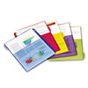 Cardinal Poly 2-Pocket Index Dividers, Letter, Assorted, 5-Tabs/Set, 4 Sets/Pack