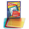 Ring Binder Poly Pockets, 8-1/2 x 11, Assorted Colors, 5 Pockets/Pack