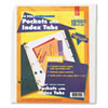 Cardinal Poly Ring Binder Pockets, 8-1/2 x 11, Clear, 5/Pack