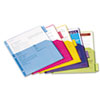 Cardinal Poly 1-Pocket Index Dividers, Letter, Assorted, 5-Tabs/Set, 4 Sets/Pack