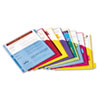 Poly 1-Pocket Index Dividers, Letter, Assorted, 8-Tabs/Set, 4 Sets/Pack