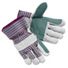 Memphis Economy Leather Palm Gloves, Large, Striped, Pair