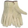 Economy Leather Driver Gloves, Large, Beige