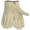 Memphis Economy Leather Driver Gloves, Medium, Beige