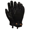 Memphis Multi-Task Synthetic Palm Gloves, Extra Large, Black, Pair