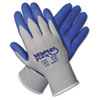 Memphis Flex Seamless Nylon Knit Gloves, Small, Blue/Gray, 1 Pair