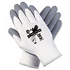 Ultra Tech Foam Seamless Nylon Knit Gloves, Large, White/Gray