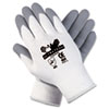 Ultra Tech Foam Seamless Nylon Knit Gloves, Medium, White/Gray