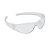 Crews Checkmate Wraparound Safety Glasses, CLR Polycarbonate Frame, Uncoated CLR Lens