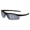 Crews Dallas Wraparound Safety Glasses, Black Frame, Gray Indoor/Outdoor Lens