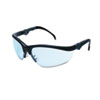 Crews Klondike Plus Safety Glasses, Black Frame, Light Blue Lens