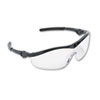 Storm Wraparound Safety Glasses, Black Nylon Frame, Clear Lens