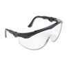 Tomahawk Wraparound Safety Glasses, Black Nylon Frame, Clear Lens