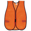 MCR Safety Orange Safety Vest, Polyester Mesh, Hook Closure, 18