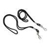 Lanyard, J-Hook Style, 22&quot; Long, Black, 12/Pack