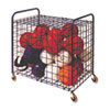 Lockable Ball Storage Cart, 24-Ball Capacity, Black