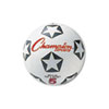 Champion Sports Rubber Sports Ball, For Soccer, No. 4, White/Black