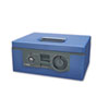 "12"" Wide Security Box w/Dual Lock, Removable Cash/Coin Tray, Steel, Blue"