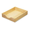 Carver Hardwood Letter Stackable Desk Tray, Oak