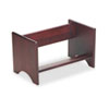 Carver Binder Rack, Wood, 17 1/4 x 10 x 10, Mahogany Finish