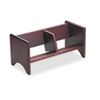 Carver Book Rack, Wood, 17 x 8 x 8, Mahogany Finish