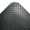 Industrial Deck Plate Anti-Fatigue Mat, Vinyl, 24 x 36, Black