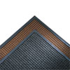 Super-Soaker Wiper Mat w/Gripper Bottom, Polypropyl, 34 x 119, Dark Brown