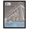 DAX Flat Face Wood Poster Frame, Clear Plastic Window, 16 x 20, Black Border