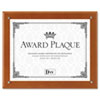 Plaque-In-An-Instant Kit w/Certificate/Mats, Wood/Acrylic, 10-1/2 x 13, Walnut