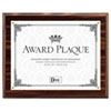 Award Plaque, Wood/Acrylic Frame, fits up to 8-1/2 x 11, Walnut
