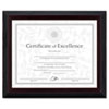 Solid Wood Award/Certificate Frame, 8 x 10, Black w/Walnut Trim