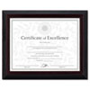 Solid Wood Award/Certificate Frame, 8-1/2 x 11, Black w/Walnut Trim