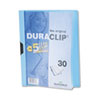 Vinyl DuraClip Report Cover w/Clip, Letter, Holds 30 Pages, Clear/Light Blue