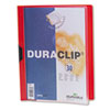 Vinyl DuraClip Report Cover w/Clip, Letter, Holds 30 Pages, Clear/Red