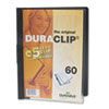 Vinyl DuraClip Report Cover w/Clip, Letter, Holds 60 Pages, Clear/Black