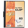 Vinyl DuraClip Report Cover w/Clip, Letter, Holds 60 Pages, Clear/Navy
