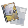 Micro-Cassette Plastic Dictation Folder, Clear, 5/Pack