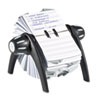 Durable 241601 TELINDEX Rotary Address Card File Holds 500 4 1/8 x 2 7/8 Cards, Graphite/Black DBL241601 DBL 241601