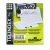 Durable 241902 TELINDEX Flip Address Card Refills, 4 1/8 x 2 7/8 Cards, Gray/White, 100/Pack DBL241902 DBL 241902