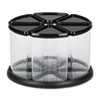 6 Canister Carousel Organizer, Plastic, 11 1/8 x 11 1/8, Black/Clear