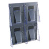 Multi-Pocket Wall-Mount Literature Systems, 18-1/4w x 2-7/8d x 23-1/2h,Clear/BK