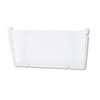 deflect-o Unbreakable Docupocket Single Pocket Wall File, Letter, Clear