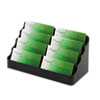 Desktop Business Card Holder, Capacity 400 Cards, Black