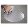 SuperMat Vinyl Chair Mat for Firm Commercial Carpets, Beveled, 60 x 66&quot;, Clear
